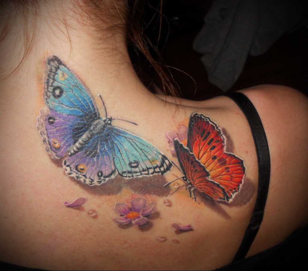 Значение татуировки бабочка 1