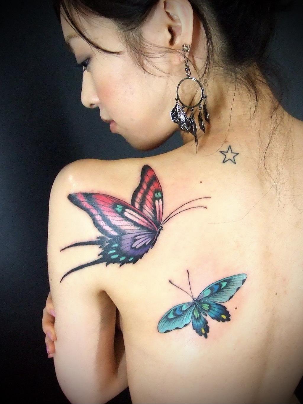 Значение татуировки бабочка 2