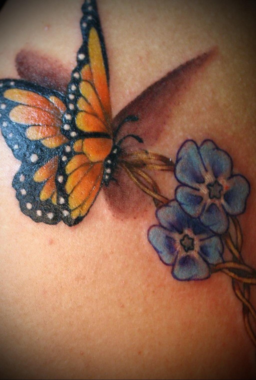 Фото тату бабочка женское