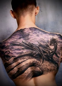 Значение татуировки дракон 5