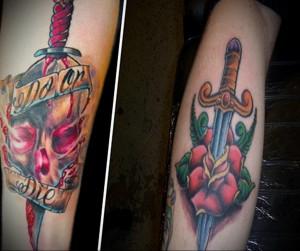 Значение татуировки кинжал 3
