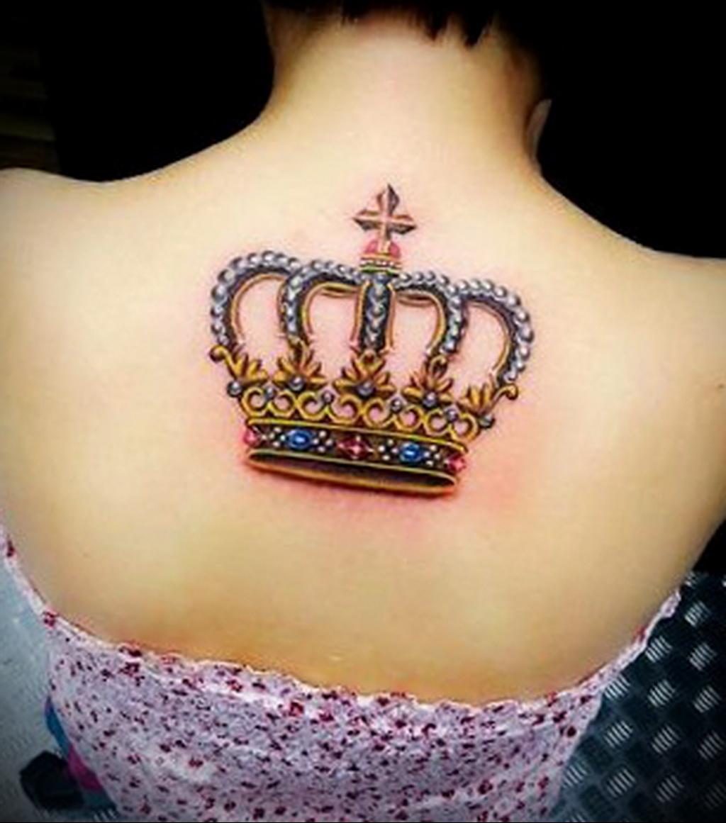 Тату корона для девушек и значение