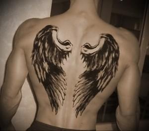 Значение татуировки крылья на спине 10