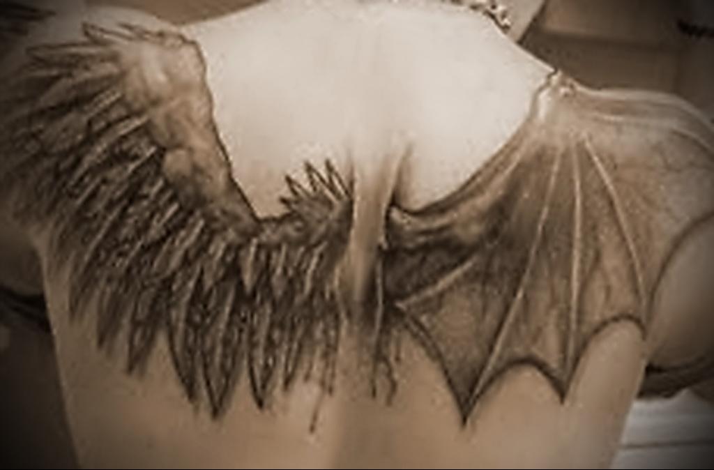 картинки тату крылья спине