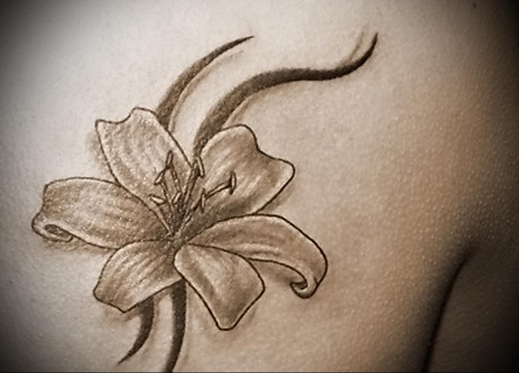 Тату цветок лилия значение
