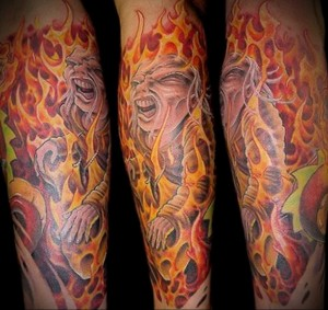 Значение татуировки огонь 1