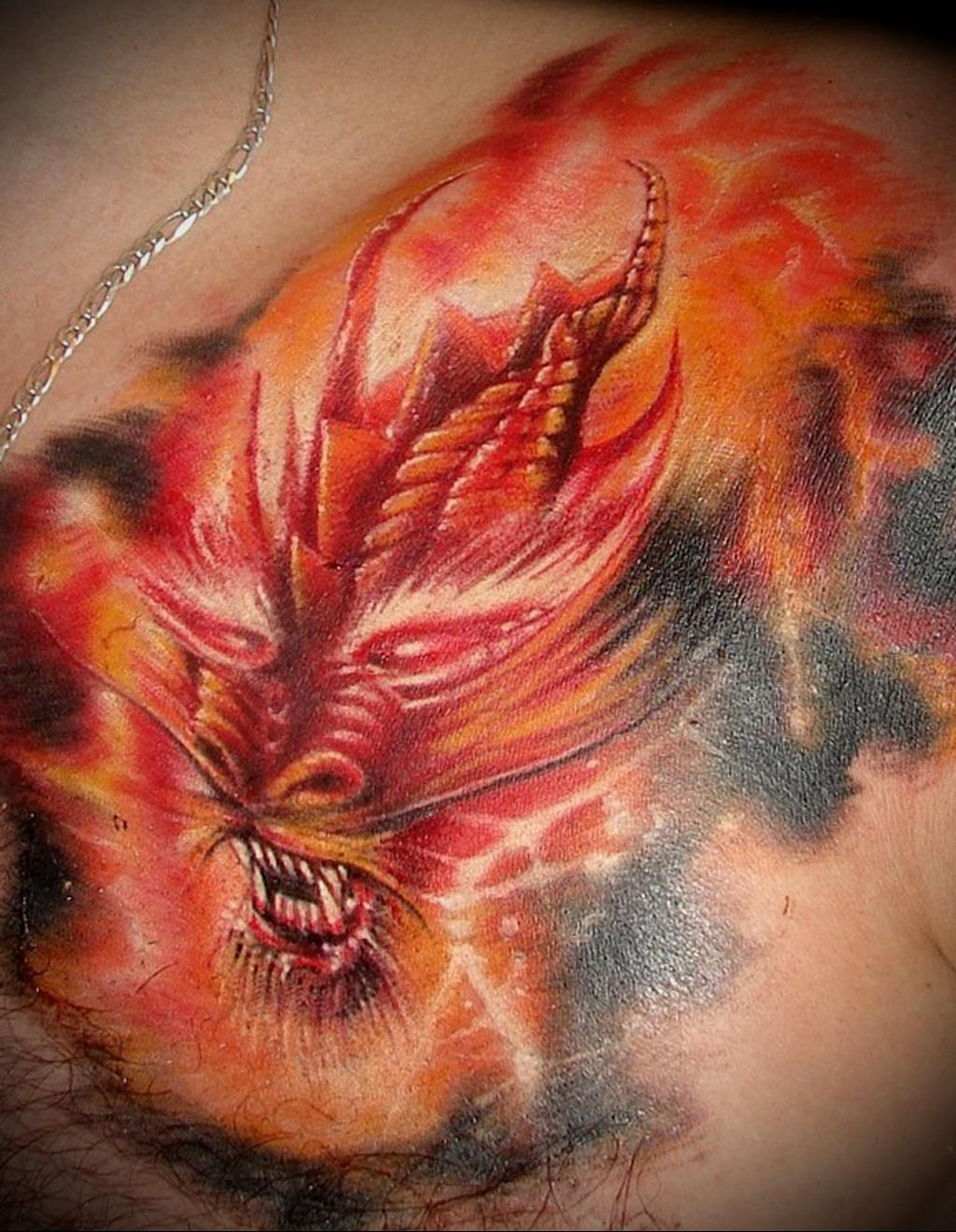 Татуировки языки пламени фото