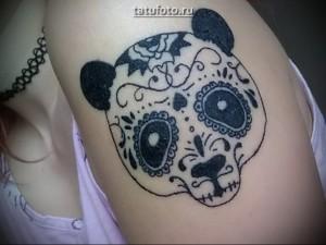 Олд-Скул морда панды в тату