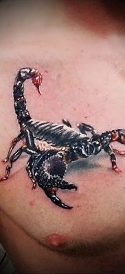 Значение татуировки скорпион 4