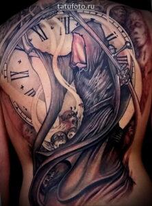 Татуировка часы и смерть
