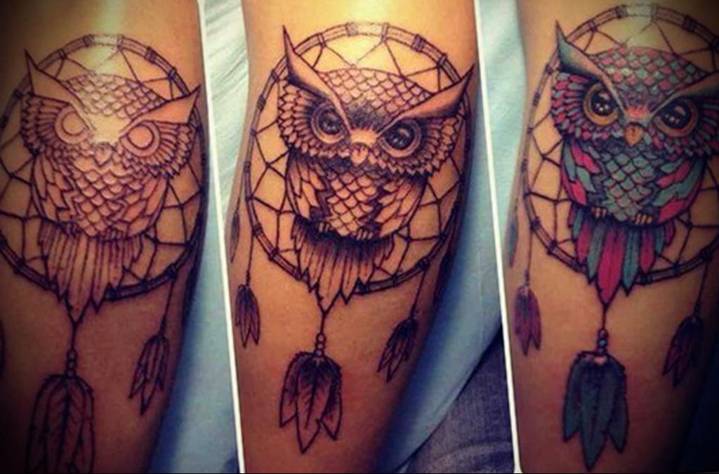 Значение совы Виды женских татуировок фото 173