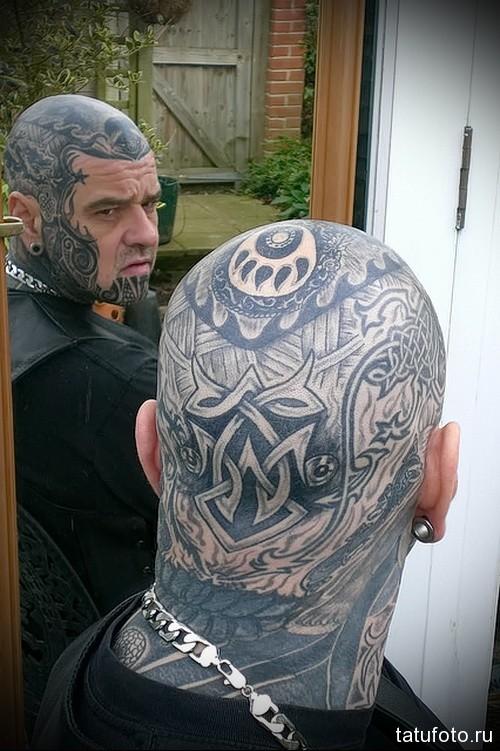 Кельтские тату на голову