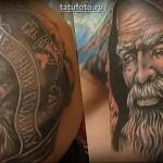 Портретная татуировка в стиле реализм