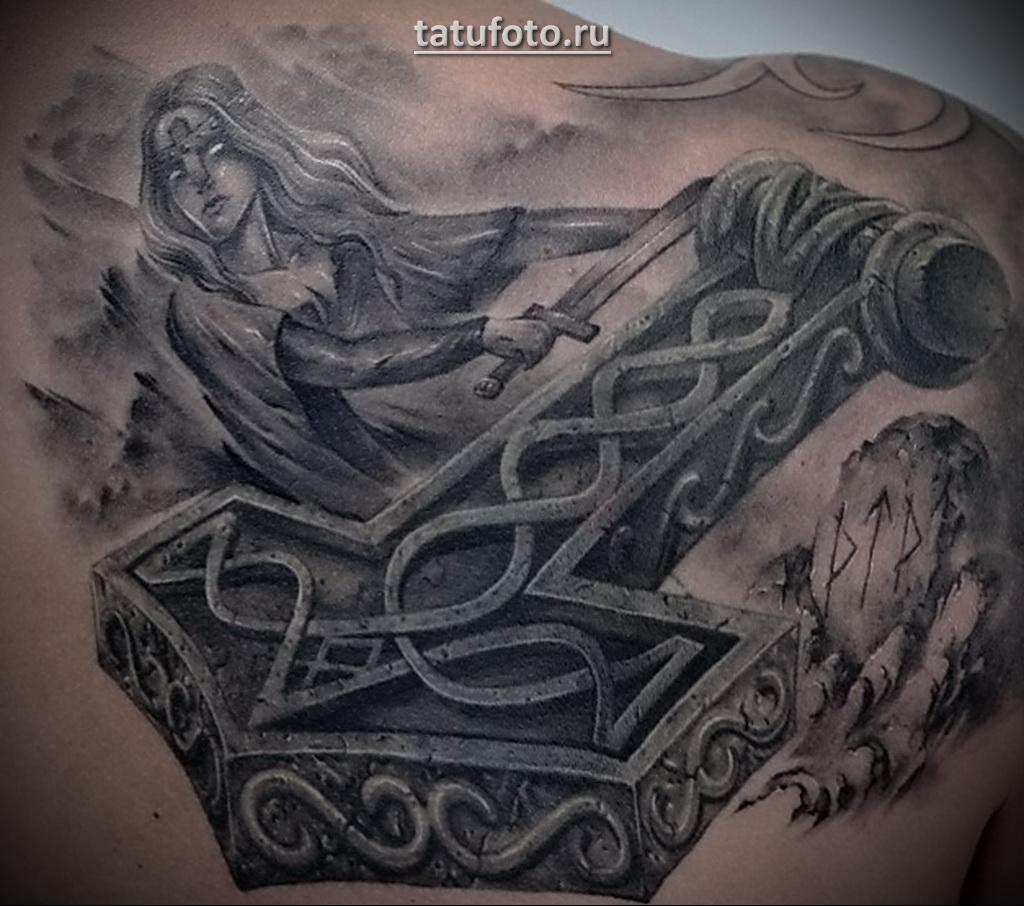 Фентази татуировка с девушкой