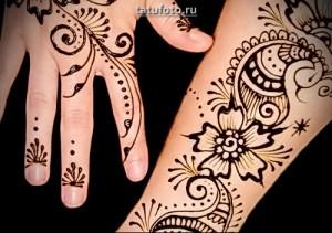 Примеры готовых работ татуировок хной