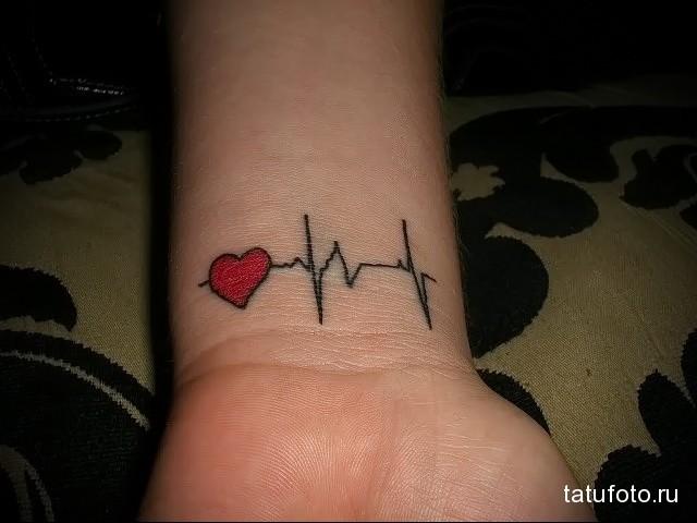 ТАТУ НА ЗАПЯСТЬЕ ЖЕНСКАЯ - пульс и сердце