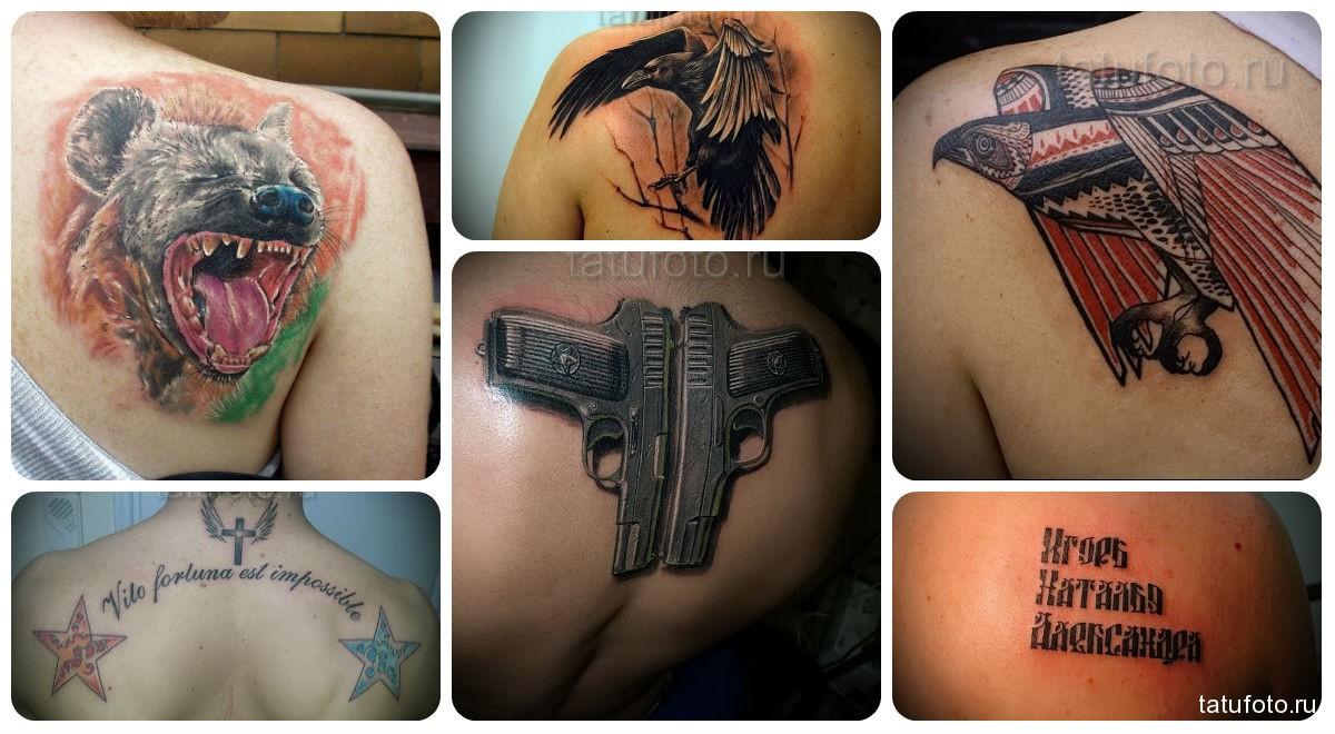 Фото мужской татуировки на лопатку