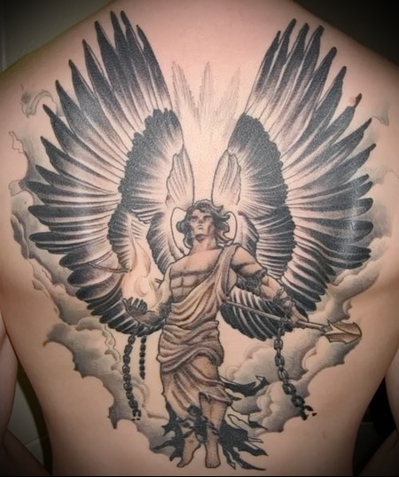 ангел воин тату 1