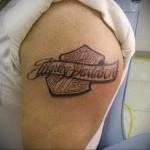 байкерская тату - - мужская татуировка на плече