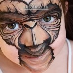 боди арт на лице