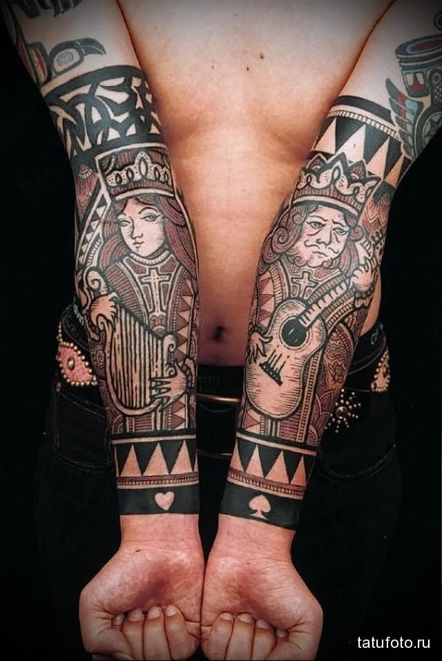 Татуировки на 2 руках
