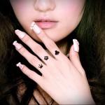 короны и карточные масти - татуировка на пальце для девушки (тату - tattoo- фото)