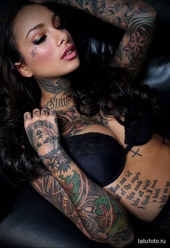 крутые рисунки татуировка на руку женская