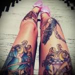 крутые татуировки на ногу для девушки