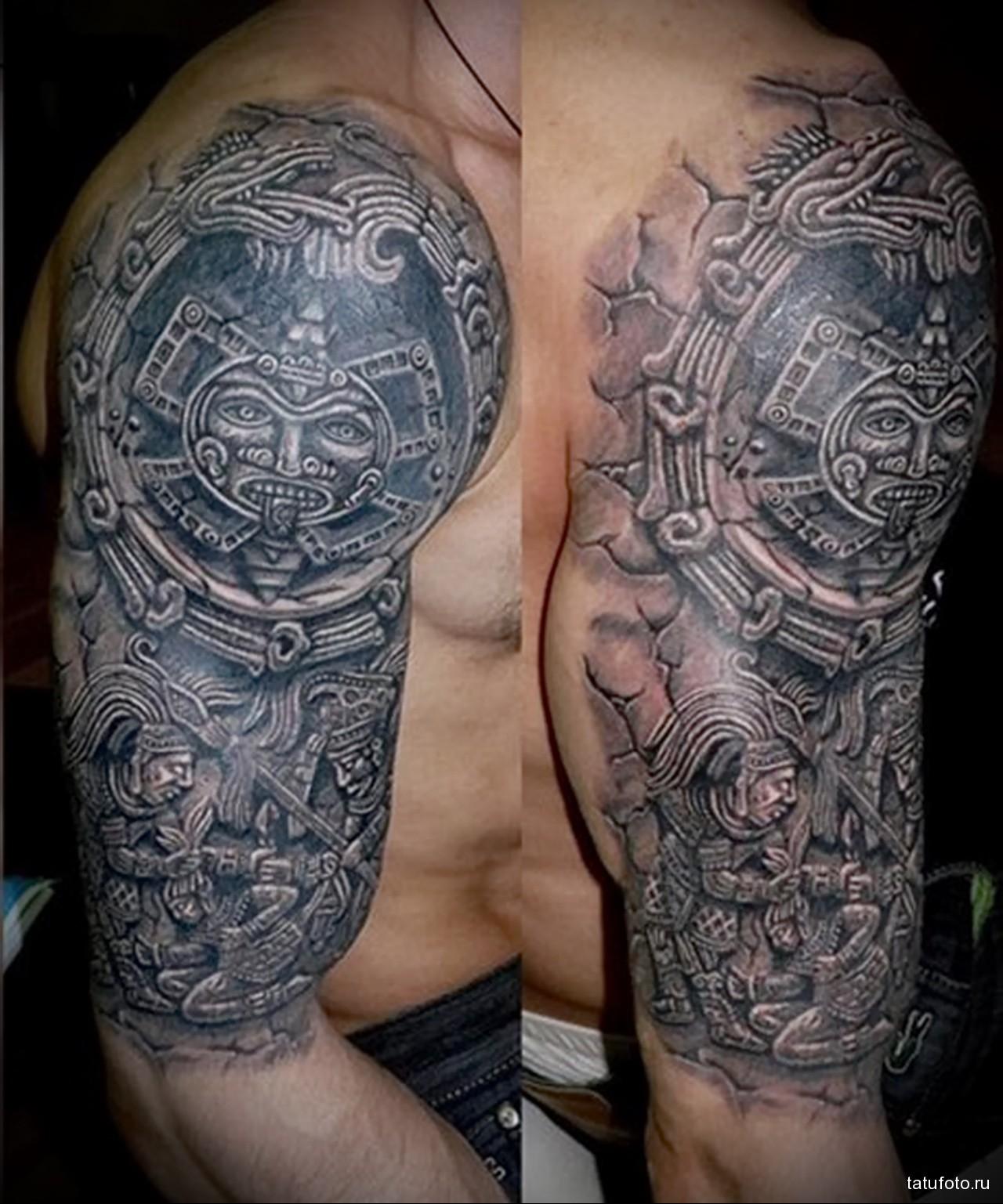 маори символы в тату - мужская татуировка на плече