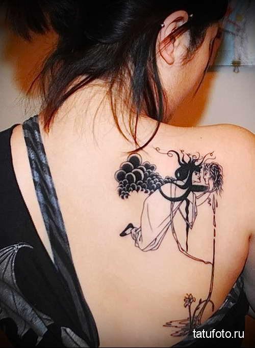женское тату фото на спине