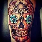 мексиканский череп тату 1