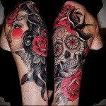мексиканский череп тату