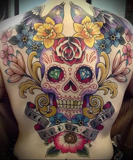 мексиканский череп тату 3