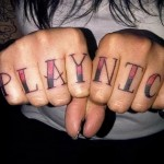 надпись на английском - татуировка на пальце женская (тату, tattoo)