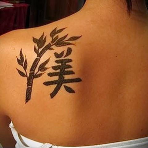 Женские татуировки и их значение на лопатке