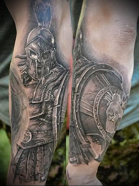 римский воин тату 4