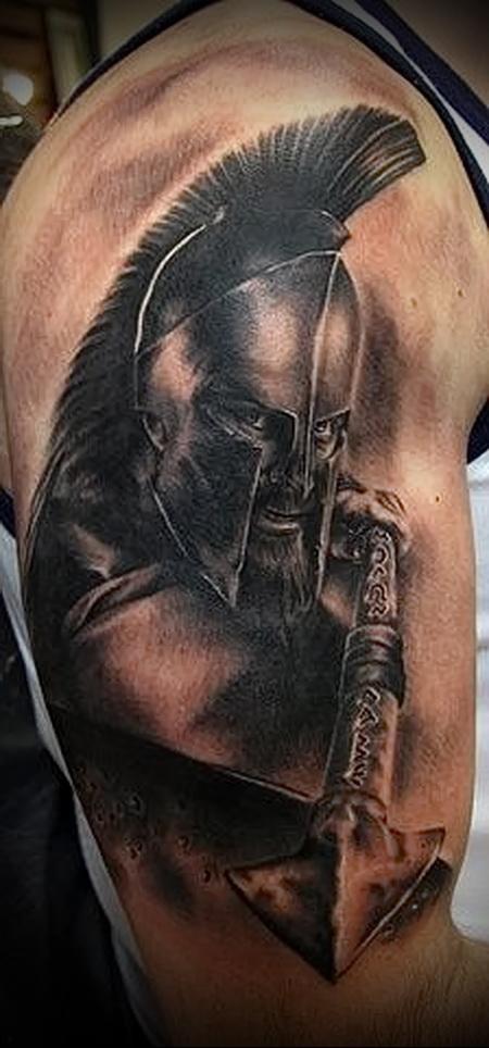 римский воин тату (спартанский воин - исправлено)