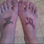 символы знаков зодиака татуировка на ноге мужская