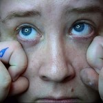 слезы - татуировка на пальце женская (тату, tattoo)