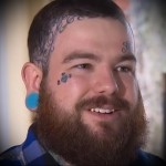 татуировка алмаз на лице