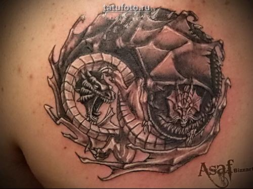 татуировка инь янь фото
