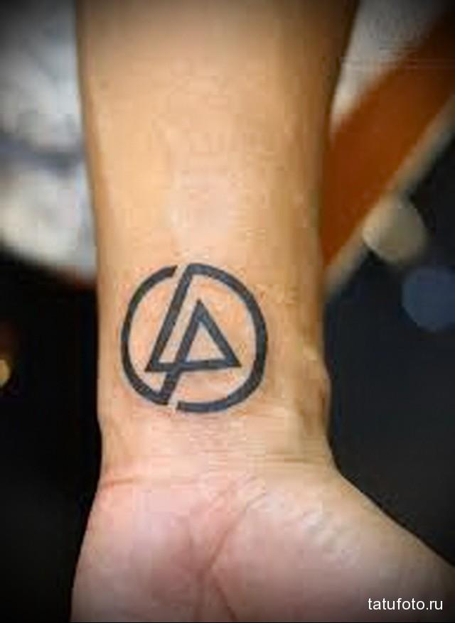татуировка на запястье треугольник вписанный в круг