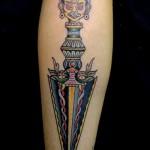 татуировка нож из кинофильма тень