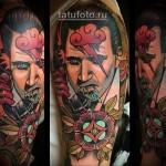 татуировка олд скул портрет