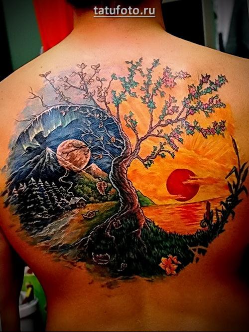 татуировки инь янь для мужчин