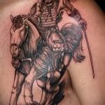 тату воина на плече 4
