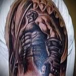 тату воина на плече 7