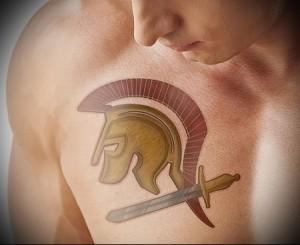 тату воинов спарты