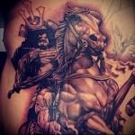 тату воин с мечом 8