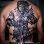 тату воин с мечом10